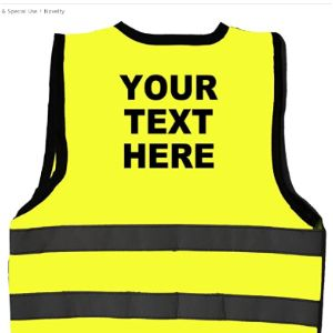 Visit The Acce Products Store Personalised High Visibility Vest