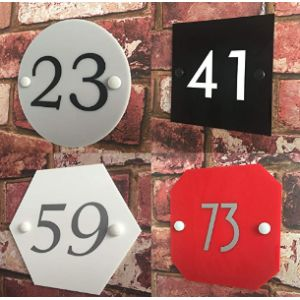 Domus House Signs Acrylic House Number Plaque