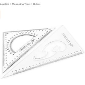 Sourcingmap Right Angle Triangle Ruler
