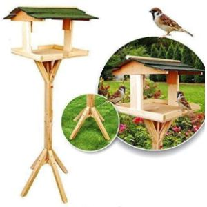 Garden Mile Wood Bird Feeding Station