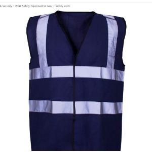 Expert Workwear Blue High Visibility Vest