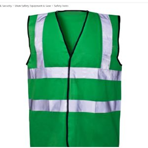 Expert Workwear Green High Visibility Vest