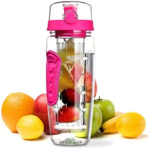 E Omorc Fruit Infused Pink Water Bottle