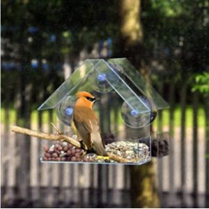 Hunpta Clear Plastic Window Bird Feeder