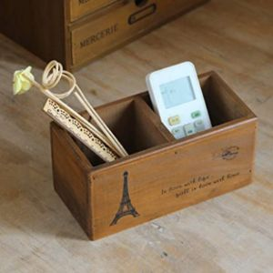 Ylucky Remote Control Holder Wooden
