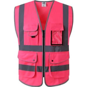 Jksafety Pink High Visibility Vest