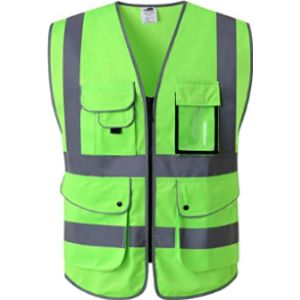 Jksafety Green High Visibility Vest
