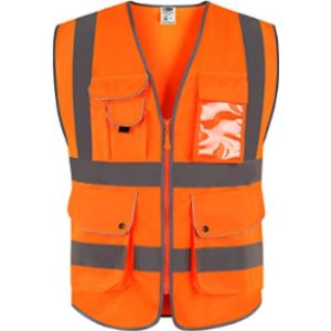 Jksafety High Visibility Orange Safety Vest