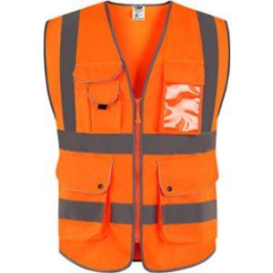 Jksafety Orange Reflective Safety Vest