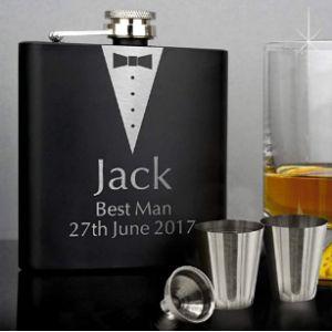 Personalisedgiftuk Stainless Steel Whisky Flask