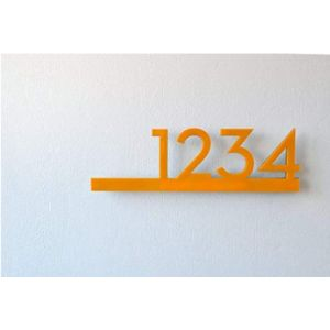 Sol Pixie Dust Contemporary House Number Plaque