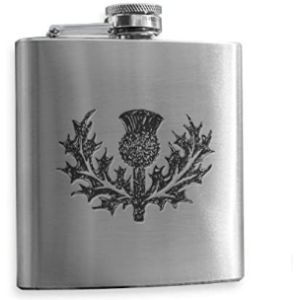 Art Pewter Stainless Steel Hip Flask Engraved