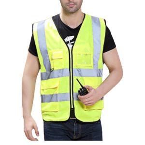 Feoya Zipper Front Safety Vest