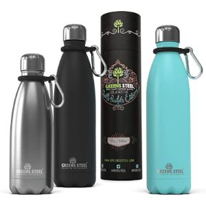 Greens Steel Double Insulated Stainless Steel Water Bottle