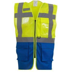 Yoko Blue Mesh Safety Vest