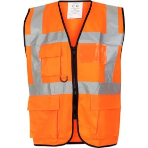 Huntadeal High Visibility Orange Safety Vest
