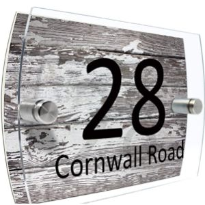 Rustic House Number Plaque