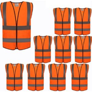 Zojo High Visibility Orange Safety Vest