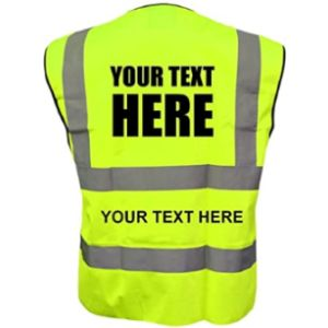 Unseen Reflective Safety Vest With Company Logo