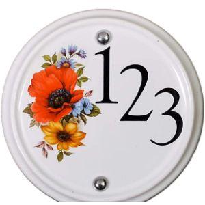 Signs Numbers Beautiful Ceramic Number Plaque