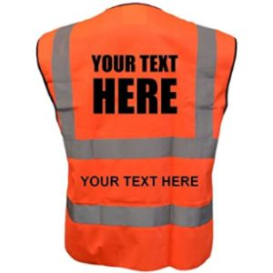 Unseen High Visibility Orange Safety Vest