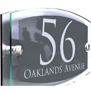 Black House Number Plaque