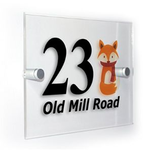 Custom House Number Plaque