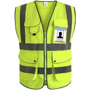 Xiake High Visibility Vest With Zipper