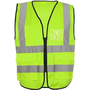 Aesy High Visibility Vest With Zipper