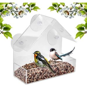 Bavision Clear Plastic Window Bird Feeder