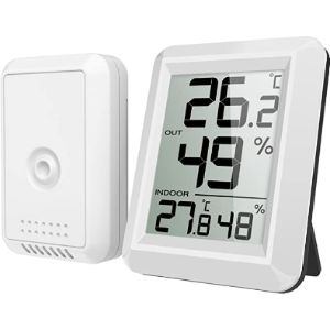 Criacr Window Mount Outdoor Thermometer