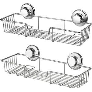 Ipegtop S Suction Cup Bathroom Shelf