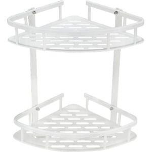 Geruike White Corner Bathroom Shelf