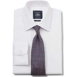 The Savile Row Company London Herringbone Pattern Shirt