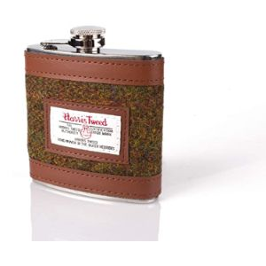 Country C Luxury Leather Hip Flask
