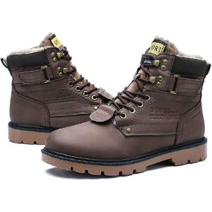Gracosy Brown Work Boot