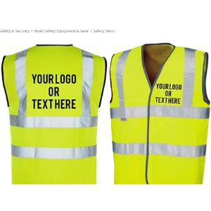 The World Of Wall Art Custom High Visibility Vests