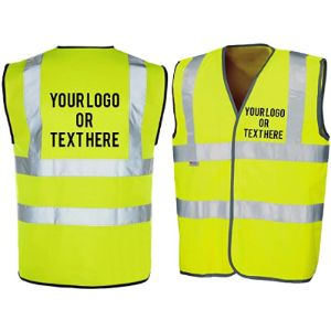 The World Of Wall Art Personalised High Visibility Vests