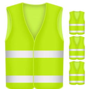 Buzifu Yellow Reflective Safety Vest