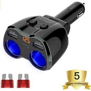 Otium 12V Cigarette Lighter Socket Splitter