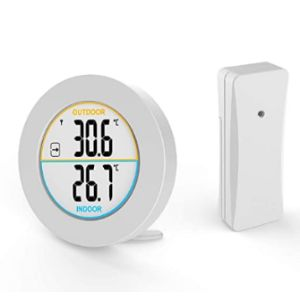 Mojidecor Indoor Large Display Outdoor Thermometer