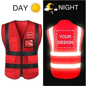 Yoweshop Red High Visibility Vest