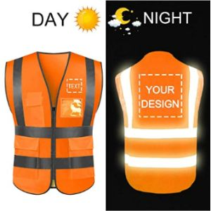 Yoweshop High Visibility Orange Safety Vest