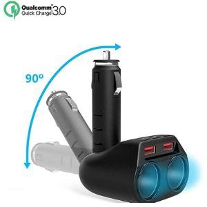 Cateck 12V Cigarette Lighter Socket Splitter