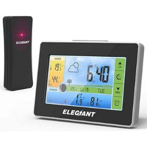 Elegiant Indoor Large Display Outdoor Thermometer
