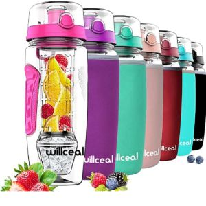 Willceal Fruit Infused Pink Water Bottle