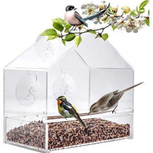 Bavision Squirrel Proof Window Bird Feeder