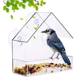 Nature_Decor Window Hanging Bird Feeder