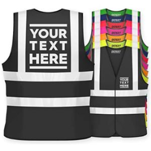 Visit The Expert Workwear Store Black Reflective Safety Vest