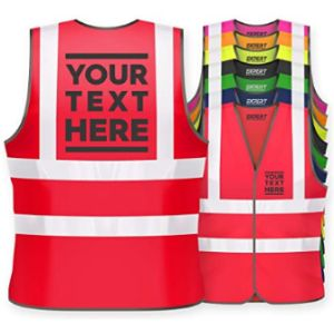 Visit The Expert Workwear Store Red Safety Vest